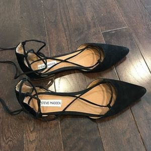 Steve Madden Lace-Up Pointed Flats